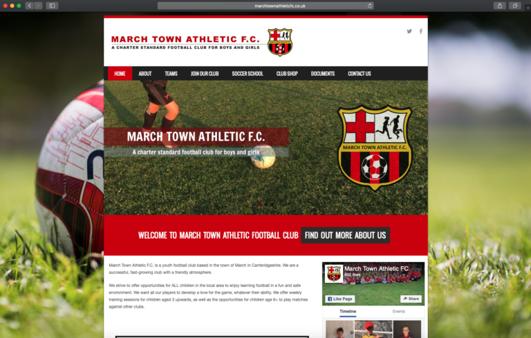 March Town Athletic FC Website