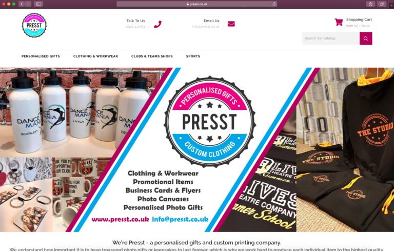 Presst Ecommerce Website