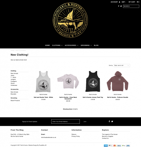 sail-and-hunter-website